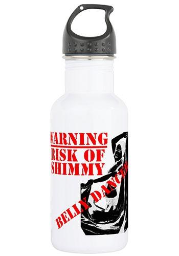 Water Bottle - Belly Dancer - Warning - Risk of Shimmy